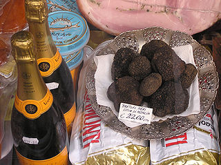 Truffles are a common food used in Umbria and Le Marche regions of Italy.