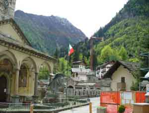 Alagna Italy a town with a popular ski resort