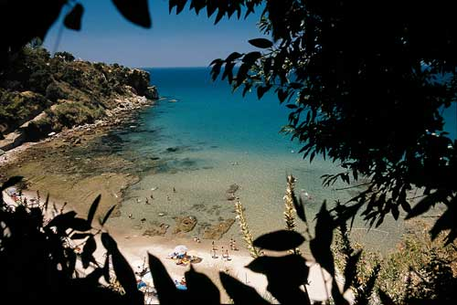 Picture of an Italian beach in Cefalu' Sicily