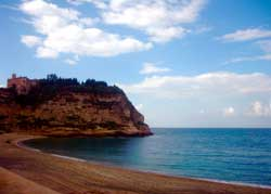 Tropea Beach, Italy in the Calabria region